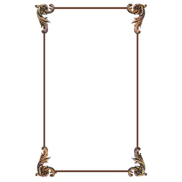 Louis XIV Corners Only Panel Set #AP-302-Corner-Panel-Set