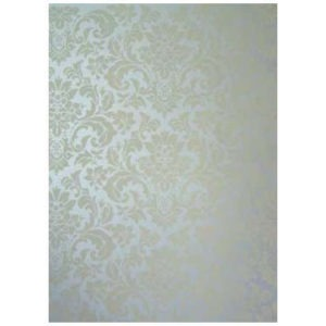 Panel art handpainted damask canvas panel in silver