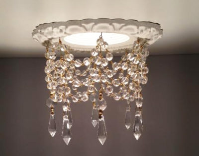 3-3/4″ Victorian Recessed Light Chandelier #RC-301-3-1.5ClearU