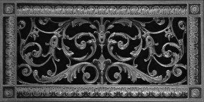Louis XIV decorative vent cover in Pewter