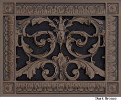 Louis XIV decorative vent cover 6x8 in Dark Bronze Finish