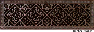 Arts and Crafts decorative vent cover 8x30 in Rubbed Bronze finish