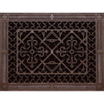 Arts and Crafts Style Decorative Grille 10x14 in Rubbed Bronze
