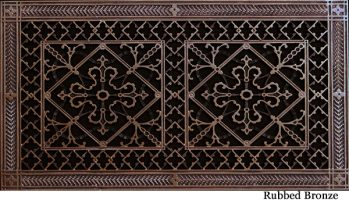 Arts and Crafts decorative vent cover in Rubbed Bronze 10x20