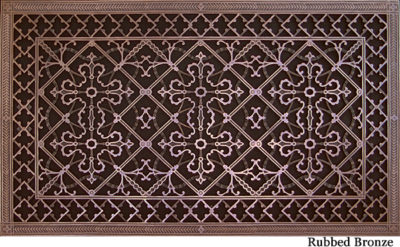Arts and Crafts decorative vent cover 20x36 in Rubbed bronze finish