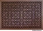 Arts and Crafts decorative vent cover 24x36 in Rubbed Bronze finish