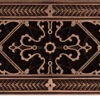 arts and crafts decorative grille 4x10 in rubbed bronze finish