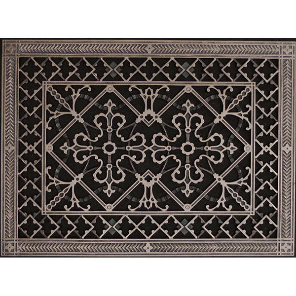 Arts and Crafts decorative grille 12x16 in Rubbed Bronze