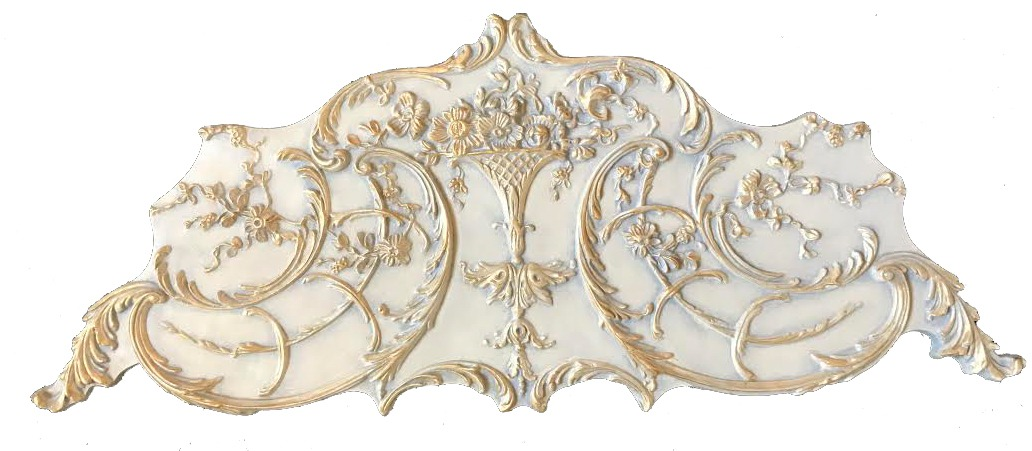 Ceiling Side Ornament in Stone Gold Finish