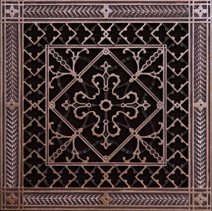 decorative grille in arts and crafts style