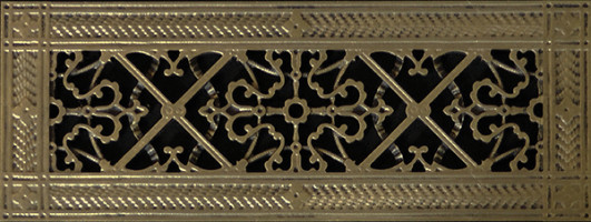 decorative vent cover in arts and crafts style