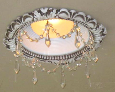 6″ Victorian Recessed Light Chandelier #RC-101-1.5ClearU
