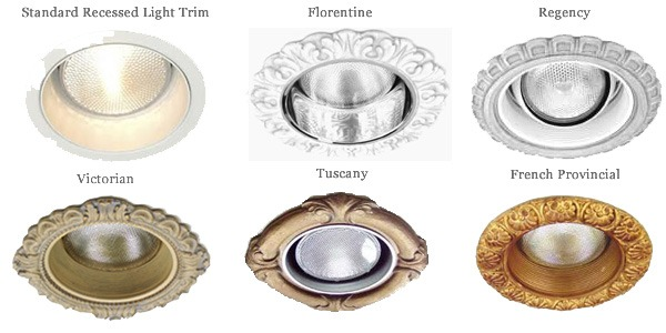 6 6 3 4 Decorative Recessed Light Trims Beaux Arts Classic Products