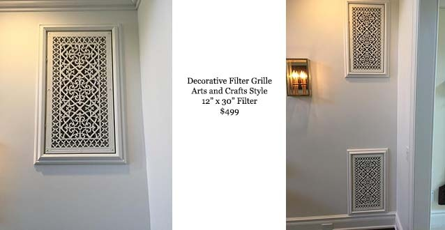 Decorative Filter Grille in Arts and Crafts Style