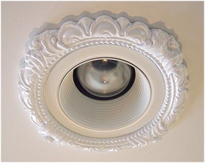 victorian style recessed light trim