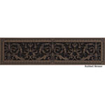 Louis XIV decorative grille 6x30 in rubbed bronze