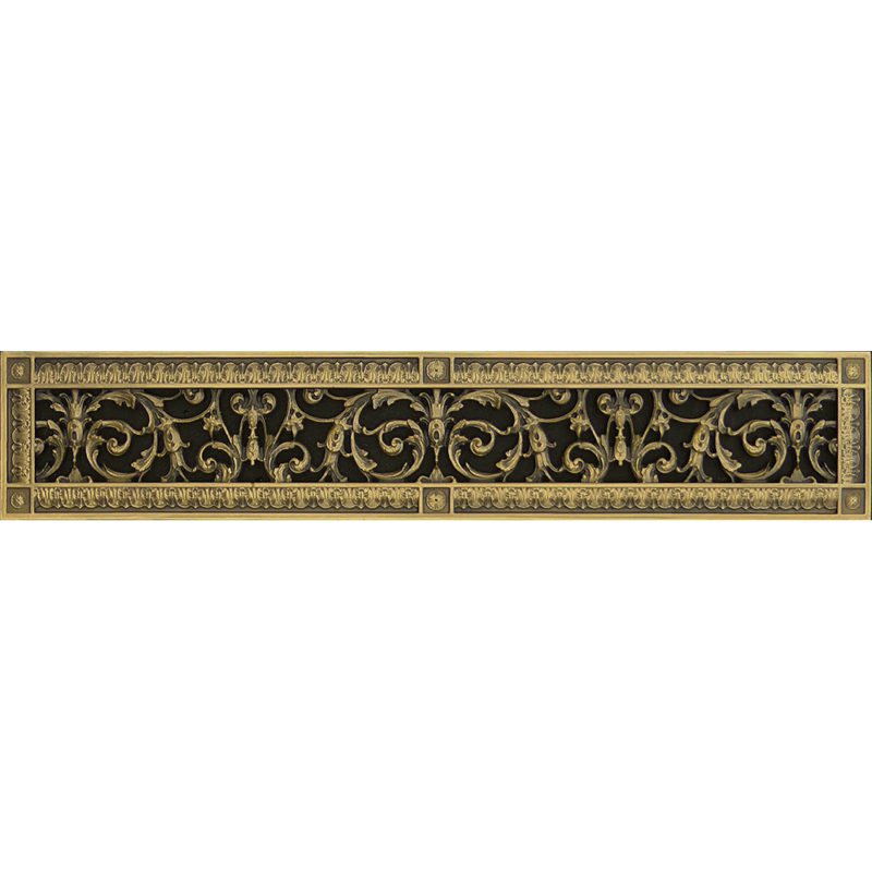 Louis XIV decorative grille in Antique Brass