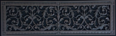 Louis XIV decorative grille in Old Wood finish