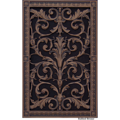 Decorative grille in Louis XIV style 20x12 in Rubbed Bronze