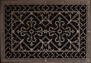 Arts and Crafts decorative grille in Rubbed Bronze Finish