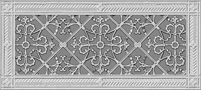 "rendering of Arts and Crafts style decorative vent cover 6"" x 16"""