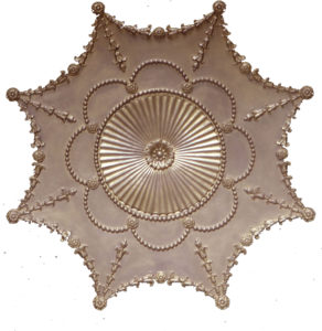 Empire Ceiling Medallion in Antique Gold Standard Finish