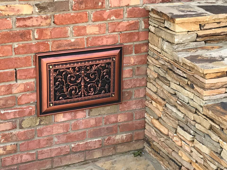 After Decorative Foundation Vent Cover
