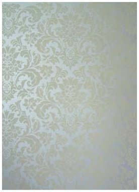 hand painted canvas panel silver damask