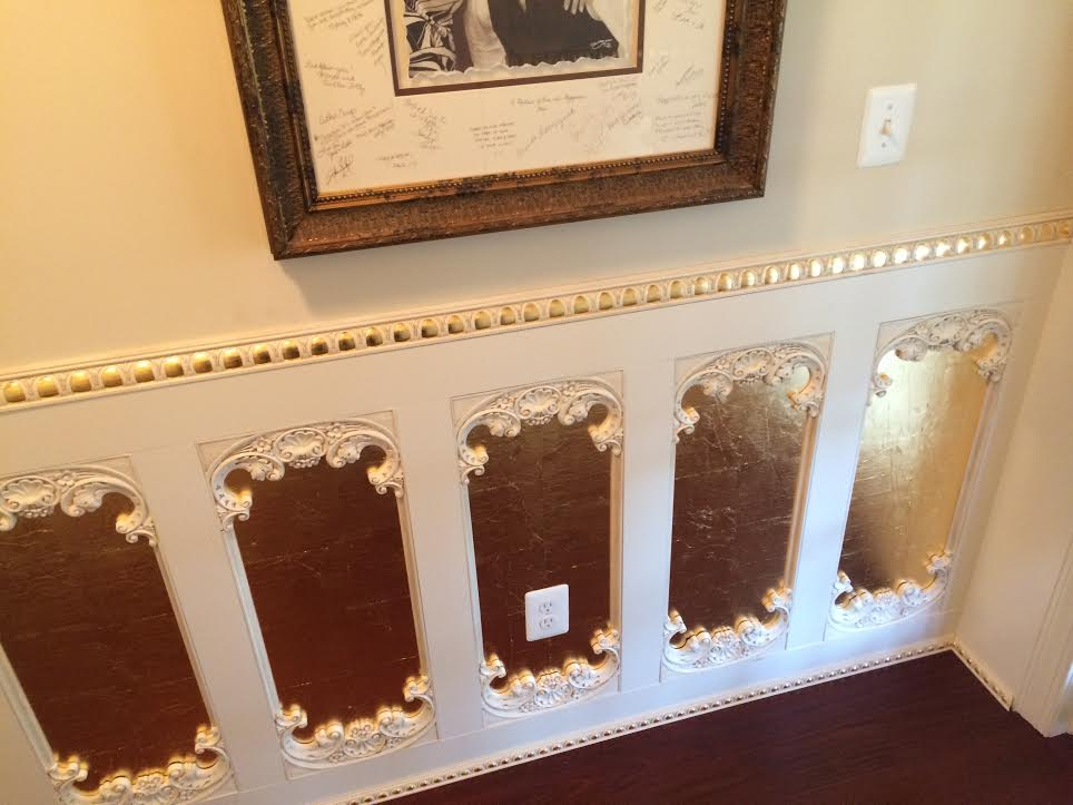 Spanish Empire Board and Batten wainscoting with ornament