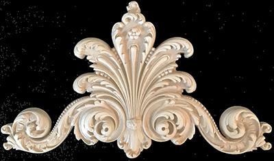 Decorative Wall Panels Louis XIV Style Center Headpiece