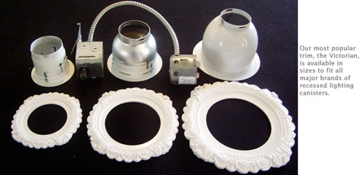 Victorian Decorative Recessed Lighting Trims In Several Sizes