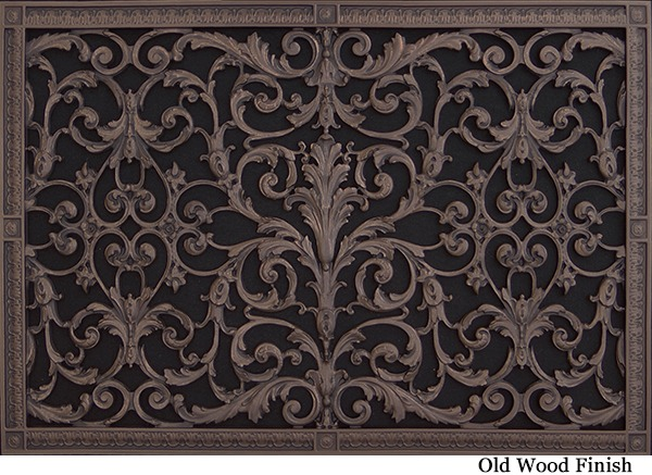 Decorative Wall Vent Covers full size of interior ac floor vent covers exterior wall vent covers decorative ceiling vent covers Louis Xiv Decorative Vent Cover 20x30 In Old Wood Finish