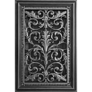 Louis XIV Style Filter Grille in Pewter