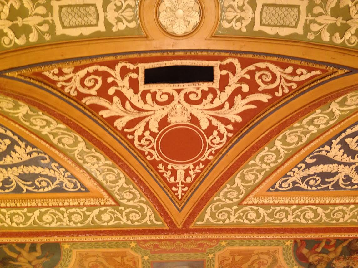 Palmer House ceiling before