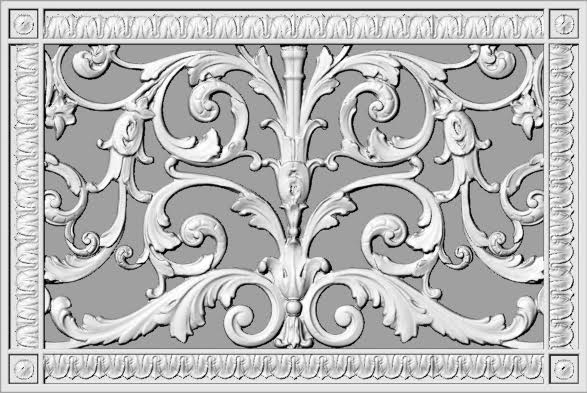 """10"""" x 16"""" decorative vent cover in Louis XIV style"""