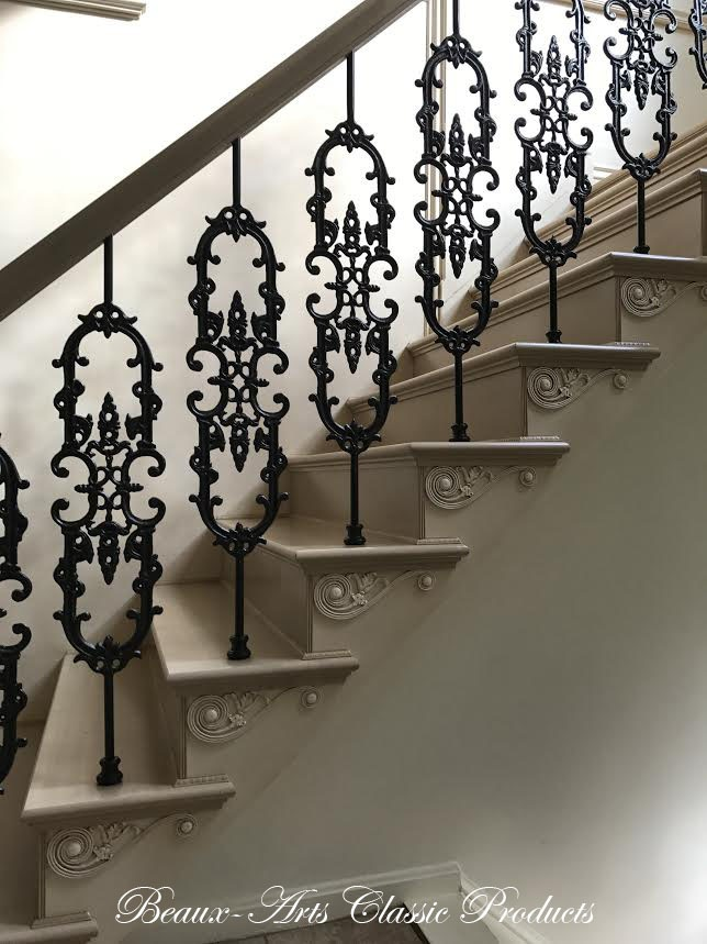 cast iron balusters and stair brackets