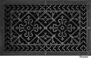 decorative vent cover 14x24 in arts and crafts style