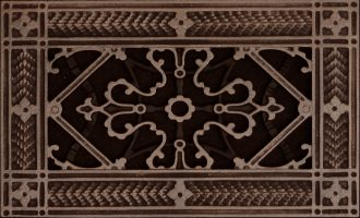 decorative vent cover in arts and crafts style 4x8