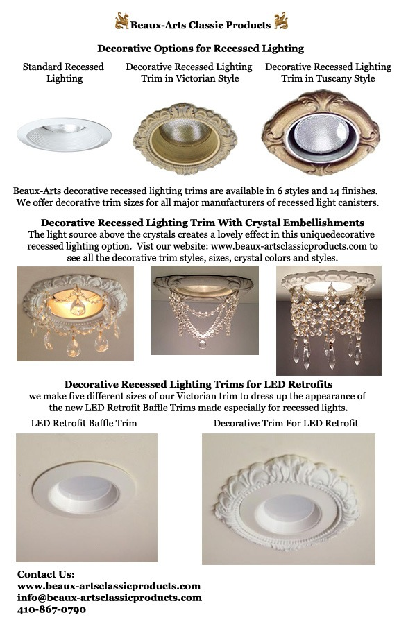 Decorative Recessed Light Trim Options Beaux Arts