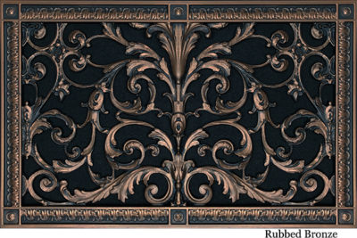 Decorative Return Air Filter Grille 12x20 in Louis XIV Style