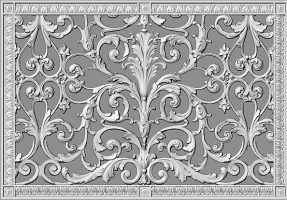 Decorative grille 16x24 in Louis XIV Style Rendering