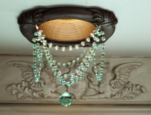 Recessed Chandelier with Swarovski crystal ball
