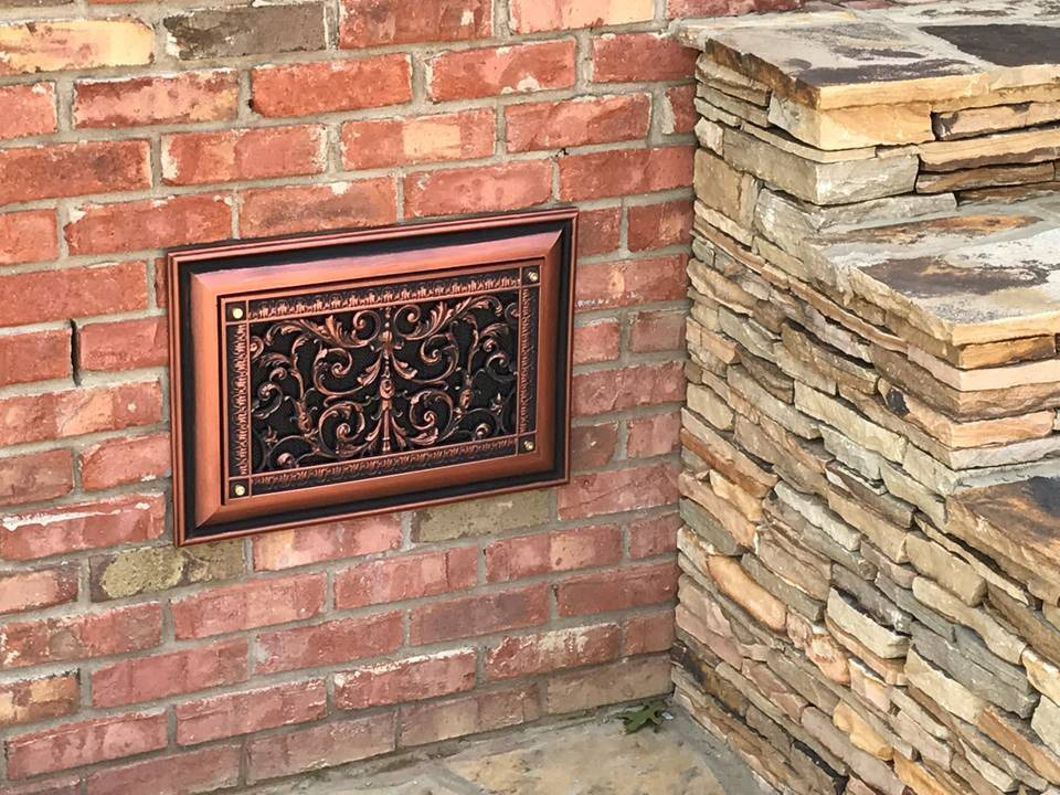 Louis XIV Style Decorative Foundation Vent COver Product