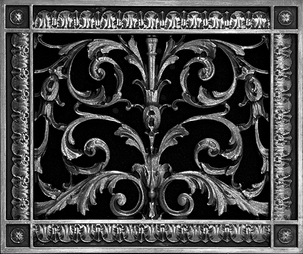 "Decorative Grille in Louis XIV Style 8"" x 10"""
