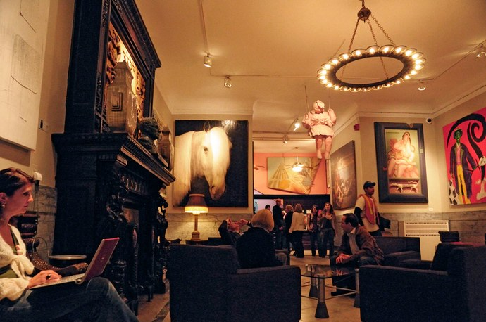 Chelsea Hotel Lobby with art