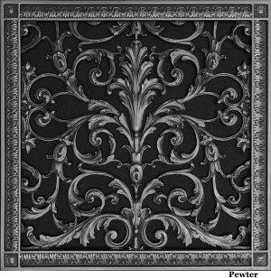 """Louis XIV Style decorative grille 16"""" x 16"""""""