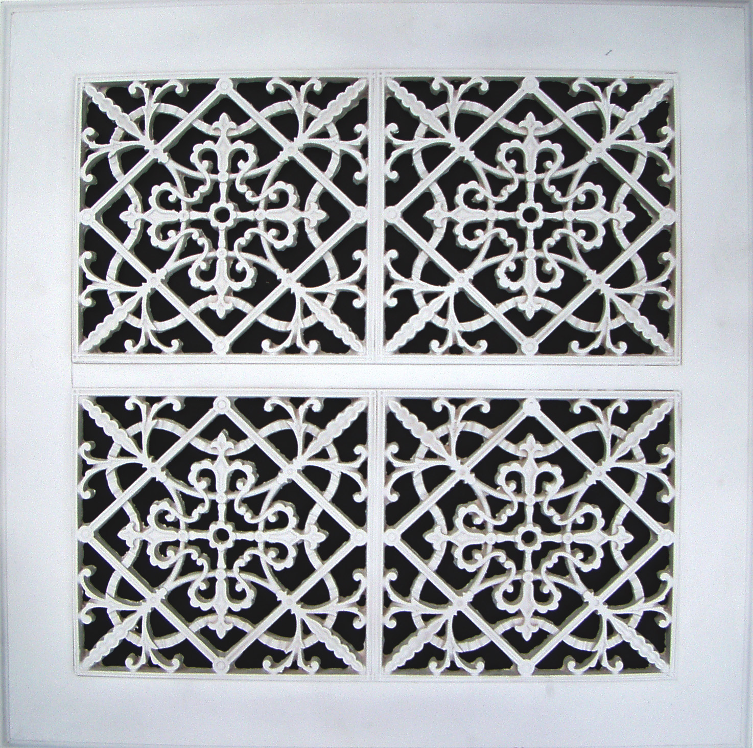 Old Arts and Crafts decorative grille 24x24