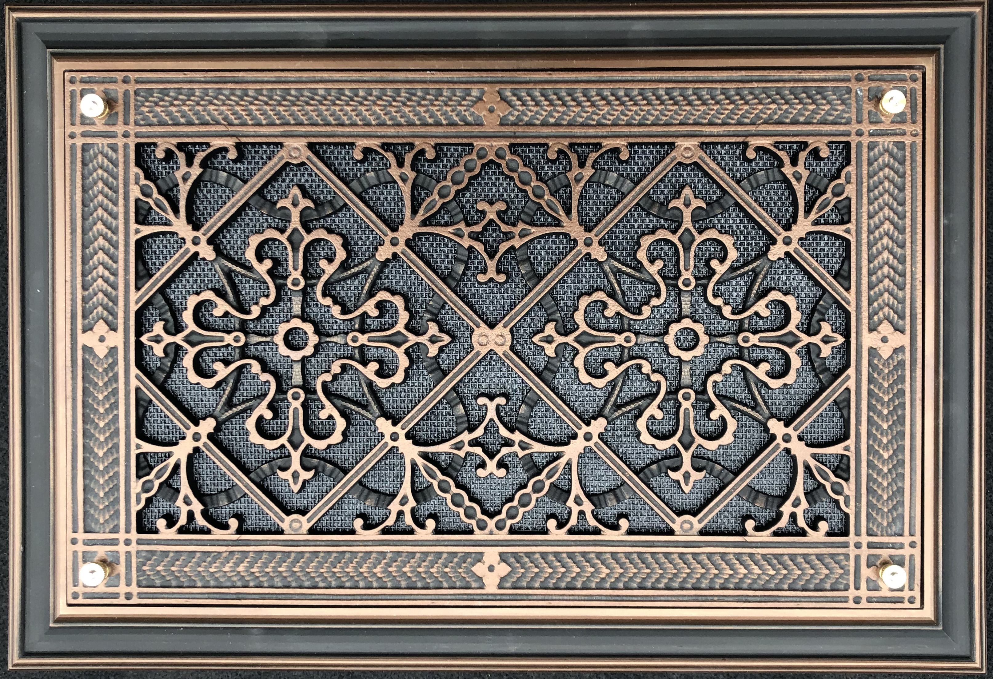 Foundation vent cover in Arts and Crafts Style