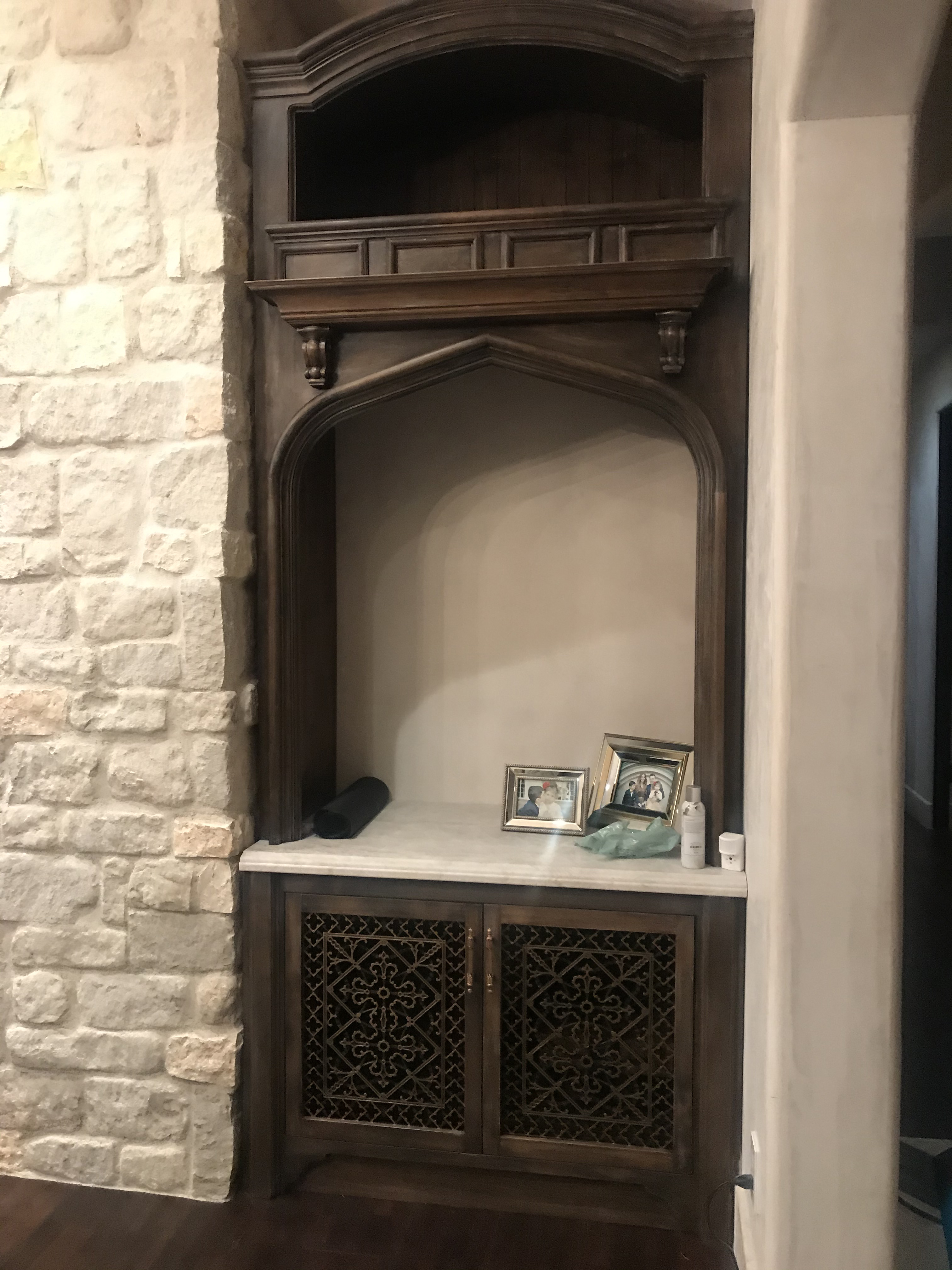 """Arts and Crafts 16"""" x 20"""" decorative grilles used for Cabinet Doors."""