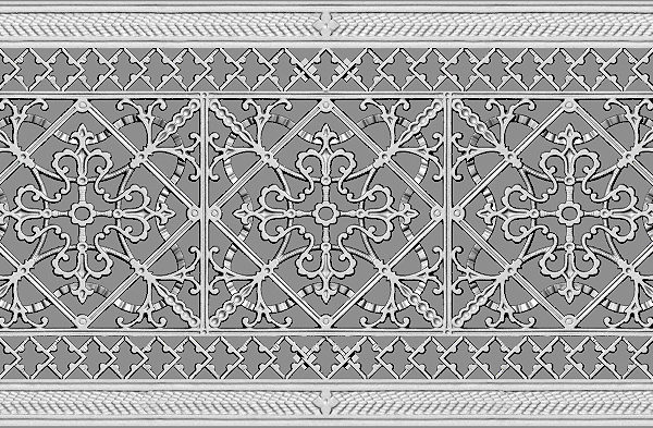 Arts and Crafts Style Grille #FGR-209-10x24